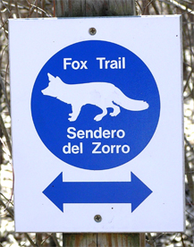 Fox trail sign