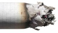 smoldering cigarette ash