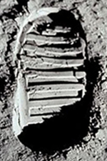 Aldrin's boot print on the moon