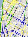 Manhattan bike lane map piece